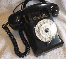 L@@K - RARE - French U43 1+2 - 1960 Rotary Dial, Desk Telephone - Black Bakelite