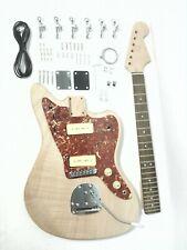 Haze DKE400 Solid Mahogany Body, Complete No-Soldering Electric Guitar DIY Kit