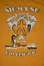 Sigma Nu Medium Fraternity T-Shirt Fall Rush 2010 Md