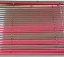 Aluminium Jalousie Lamellenrollo pink B/H 140 x 50 cm mit Wendestab rechts