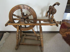 "ANTIQUE SM FLAX SPINNING WHEEL.1880's. VGC. CHILD SIZE w 13"" WHEEL"
