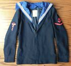 Royal Navy Seaman's jumper with collar vintage sailors jacket top 1960s 1970s RN