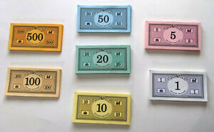 MONOPOLY Deluxe Edition (1998) Replacement -  Paper MONEY 283 Pieces