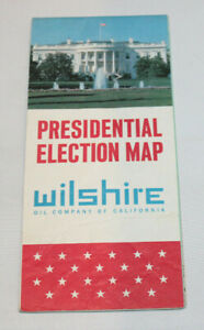 vintage 1964 Wilshire Oil Company of CA Presidential Election Map