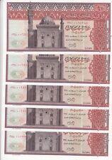 EGYPT 10 EGP 1974 P-46 sig/ZENDO #14 LOT X 5 UNC NOTES  */*