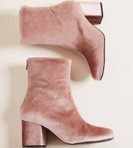 Free People Velvet Chunk Heeled  Boot