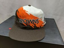 Vintage Cleveland Browns Logo Athletic Splash Hat Snapback Paint Wool 1990s NFL