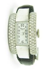 Chopard 18kt Solid White Gold Vintage La Strada Pave Diamond Rectangular Watch