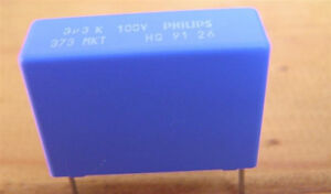 3.3uF Polyester MKT Crossover Capacitors   - 10x high quality Philips