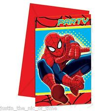 Marvel Spiderman Invitations 6 Pcs Kids Birthday Party Invitation