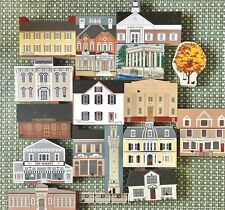 Mixed Lot of 18 Cats Meow Wood Village Buildings 1995-Presidential Series/States