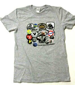Madness tshirt official SKA ska mens unisex 100% cotton crew neck Badges