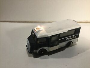 French Dinky 566 Citroen H Police Van With Working Flashing Light, Meccano Made
