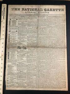 1824 Newspaper Philadelphia PA Morris Family Ads Isaac Desha Kentucky Murder