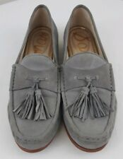 SAM EDELMAN THERESE Womens Gray Tassel Career Slip On Shoes Size 7 M