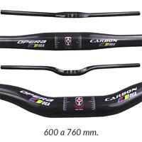Manillar de Carbono Plano Doble Altura Bicicleta de Montaña MTB BTT 600 a 760mm