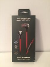 Ferrari Scuderia In-Ear Headphones BNIB