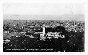 1922 University of California Berkeley Looking Through the Golden Gate Postcard