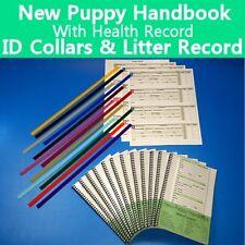 New Puppy Handbook - Canine Vaccine Health Record - ID Collars - Litter Record