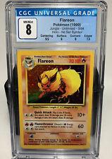 1999 Pokemon Jungle No Symbol Holo Flareon #3 CGC 8 NM/Mint
