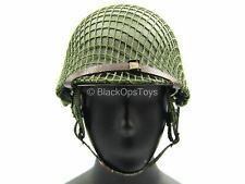 1/6 Scale Toy Wwii - Us Platoon Leader - Green Metal Helmet w/Wraps