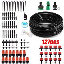 127Pc Auto Drip Irrigation System Kit Micro Sprinkler Garden Lawn Plant