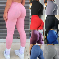Women High Waist Yoga Pants Anti-Cellulite Scrunch Push Up Leggings Exercise Aa
