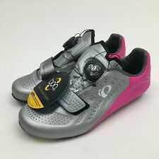 Pearl Izumi Elite Road V5 Cycling Shoes Pink SIlver Womens Size USA 7 / 37.5 EUR