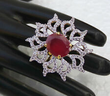 Gorgeous Indian American Diamante Party Golden Fashion Jewelry Ring Adjustable