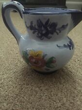 Portuguese Vintage Pottery Large Pitcher
