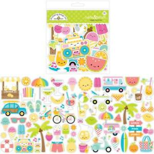 Sweet Summer Collection 80 Paper Die Cuts Ephemera Odds & Ends Doodlebug New