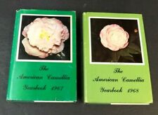 The American Camellia Society Yearbook 1967 1968 HC 2 Book Lot Flower Varieties