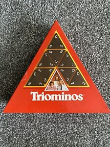 Vintage Triangular TRIOMINOS Rare Game by Goliath Complete