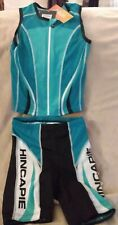 NWT Women's Medium Teal Hincapie Triathlon Sleeveless Jersey and Shorts