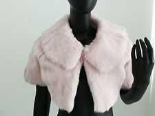 Juicy Couture Pink Girls Rabbit Fur Shrug Bolero Jacket SzS