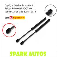 Qty(2) NEW Gas Struts Ford Falcon FG model BOOT no spoiler XT G6 G6E 2008 - 2014