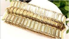 Banana Republic Women's Baguette Gold crystal Bracelet NWT 49