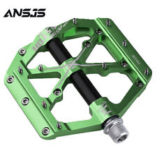 """Ansjs 3 Bearings Mountain Bike Pedals 9/16"""" Pedals Non-Slip Alloy Flat Pedals"""