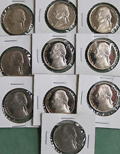 1990 - 1999 10 Coin Set Proof Jefferson Nickel Lot 5c Coins Collection Five Cent