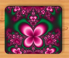 FRACTAL PINK / GREEN BUTTERFLY MOUSE PAD -ksp9Z