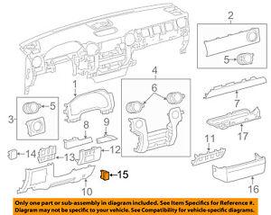 TOYOTA OEM Instrument Panel Dash-Switch Bezel Blank Cover 5553906090C0