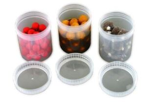 Fox Glug Bait Tubs Full Size Clear x 6 / Carp Fishing