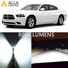 Alla Lighting Low/Main Beam Headlight 9006XS White LED Bulbs for Dodge Charger