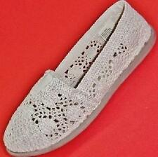NEW Girls Youth's MUDD ROSLYN Beige Lace Slip On Loafers Casual/Dress Shoes