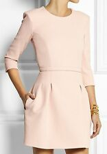 NEW $510 Maje Wendal Baby Pink Cocktail Crepe Spring Dress SZ 3 / US 6 8 / FR 40