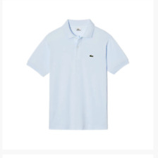 NWT LACOSTE L1212 Men Short Sleeve ORIGINAL Fit Pique POLO Shirt Light Blue XS 2