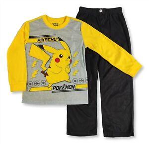 Boys Large 10-12 Pokemon Pikachu Pajama Long Sleeve Shirt Pant PJ Gift Set