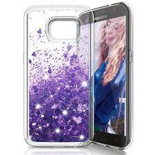 COVER Custodia Glitter Morbida Silicone STRASS per Samsung Galaxy S7 Viola