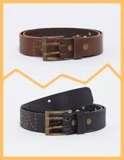JAPAN RAGS ceinture en cuir NEUVE 85 90 95 100 cm clouté couleur NOIR ou MARRON