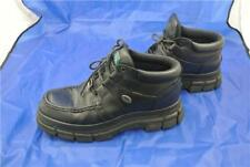 POD SHOE WORK SCHOOL BOOT SIZE 10 UK SMOOTH LEATHER BLACK LACE UP HI TOP TRAINER
